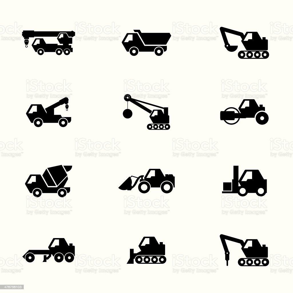 Construction set vector art illustration