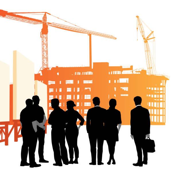 illustrations, cliparts, dessins animés et icônes de projet de construction actionnaire - chef de projet