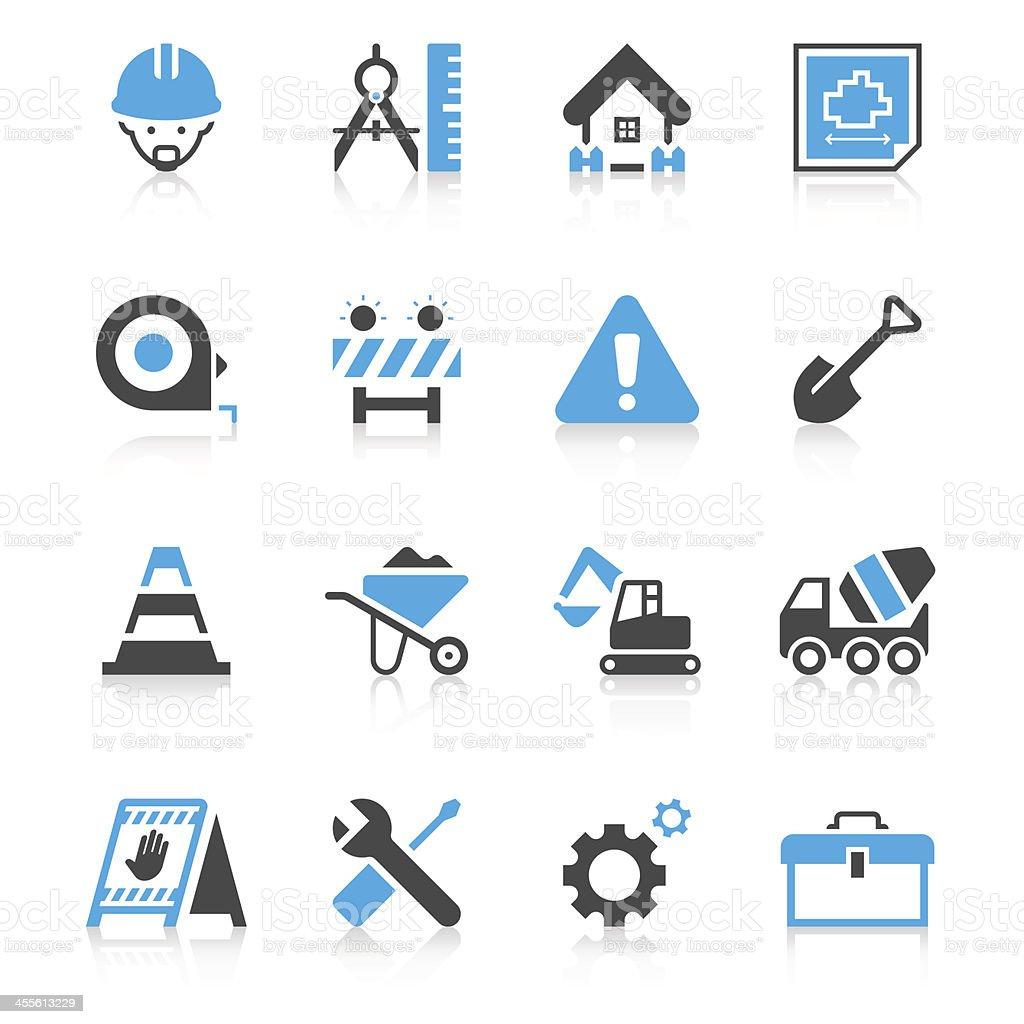 Construction Site Icon Set   Concise Series vector art illustration