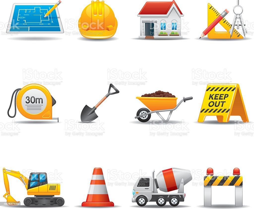 Construction Site Icon Set | Elegant Series vector art illustration