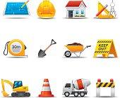 Construction Site Icon Set | Elegant Series