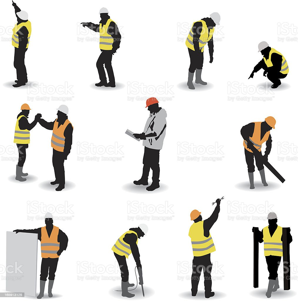 Construction site vector art illustration