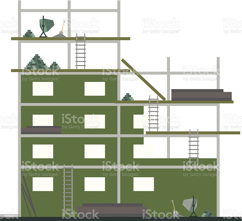 Construction Site royalty-free stock vector art