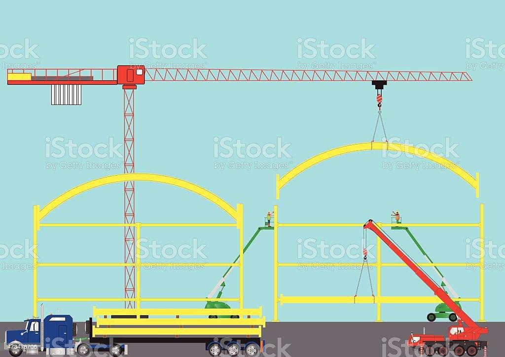 Construction Site vector art illustration