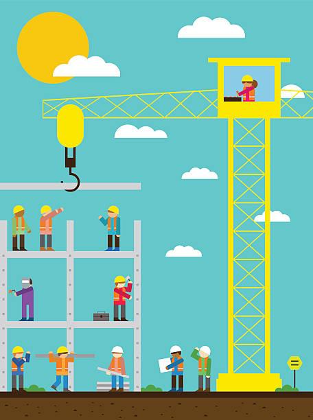illustrations, cliparts, dessins animés et icônes de chantier de construction - chef de projet