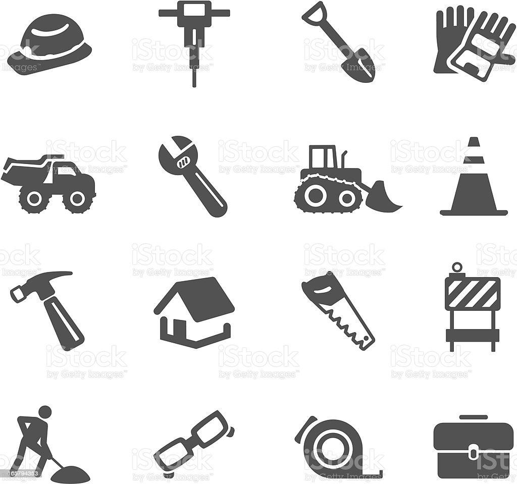 Construction Symbols vector art illustration