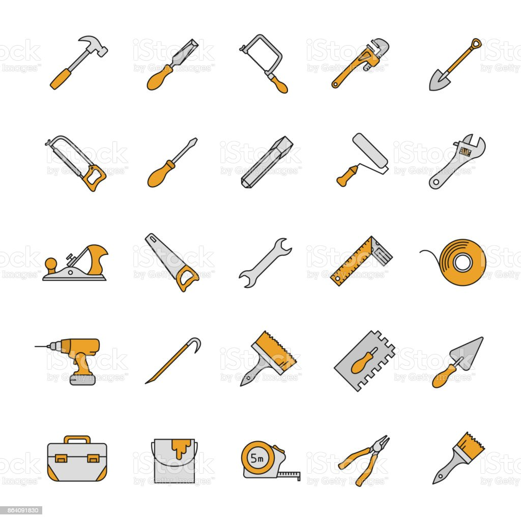 Construction tools icons royalty-free construction tools icons stock vector art & more images of architecture