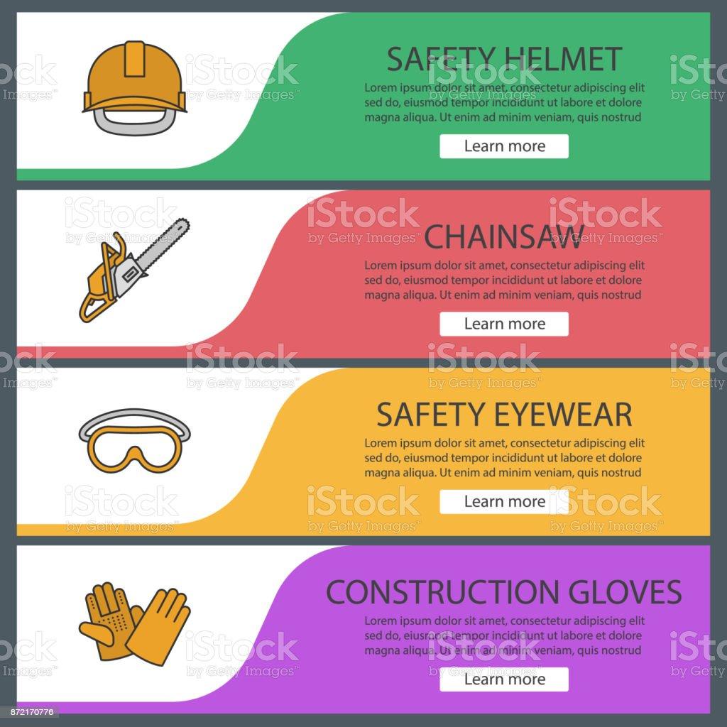 Bau Werkzeuge Symbole – Vektorgrafik