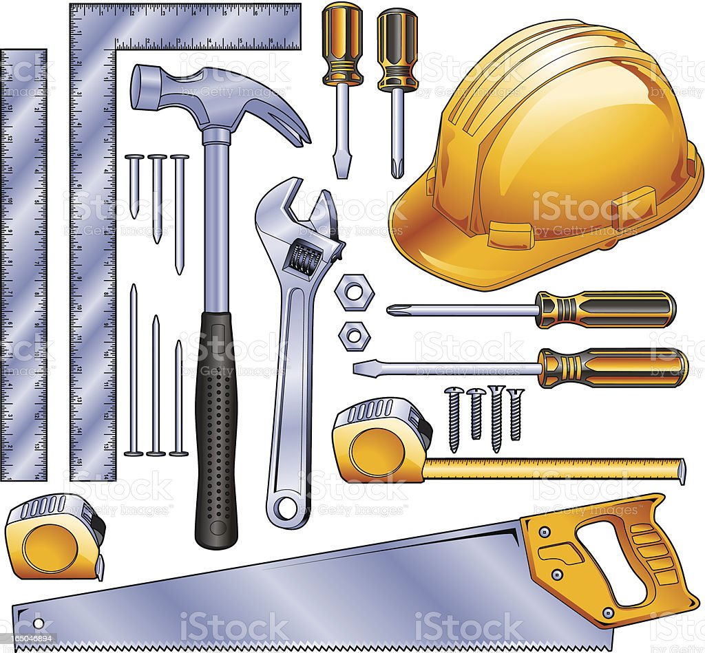 Construction Tools royalty-free stock vector art