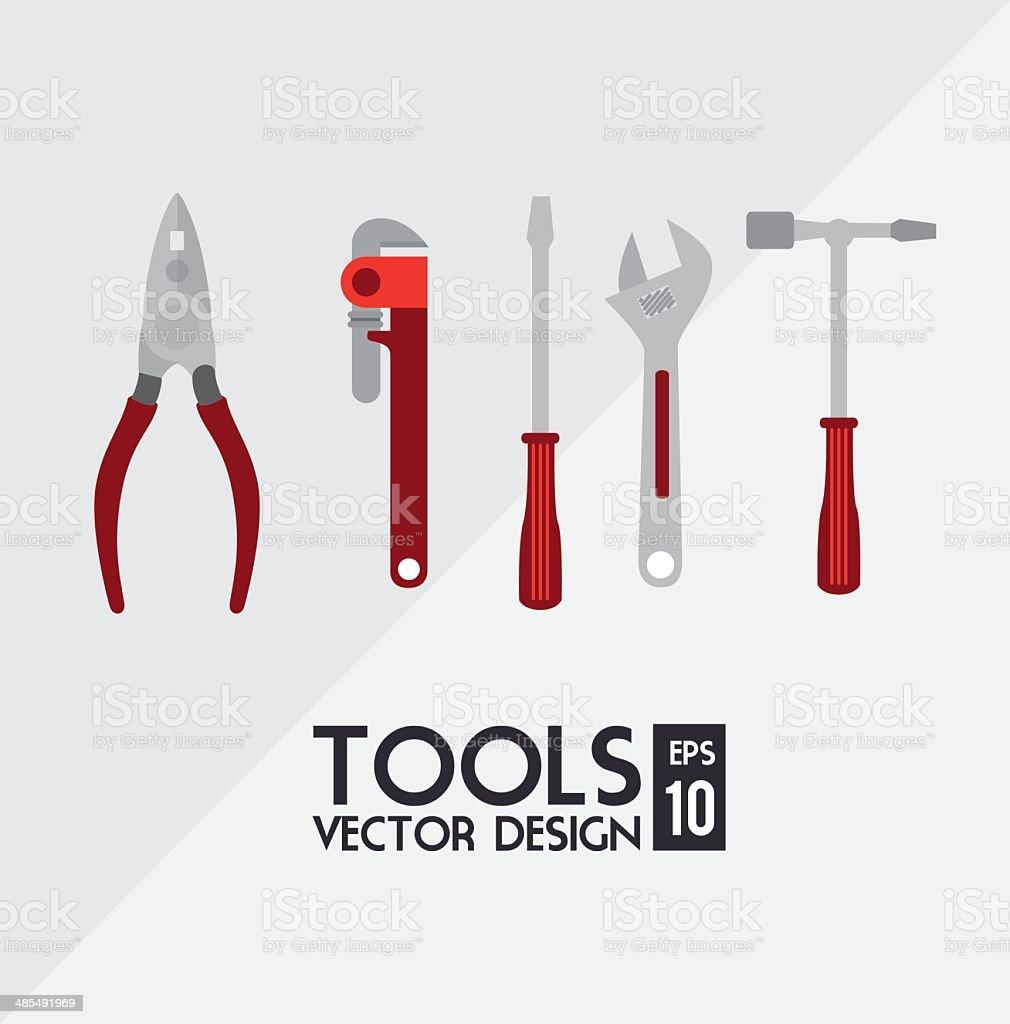 construction tools vector art illustration