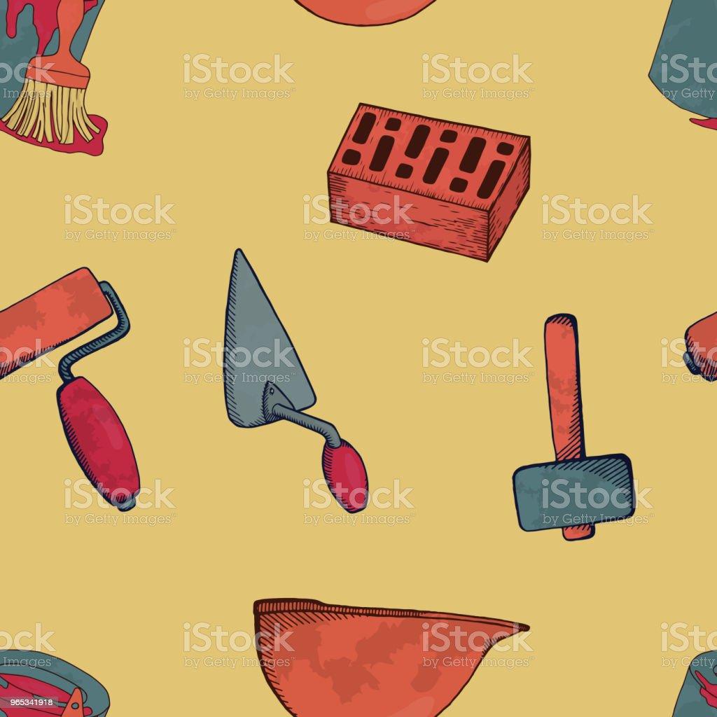 Construction tools. construction tools - stockowe grafiki wektorowe i więcej obrazów atrament royalty-free