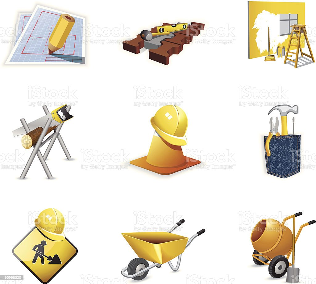 Construction tools royalty-free construction tools stock vector art & more images of building - activity