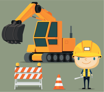 Construction Truck and Contractor