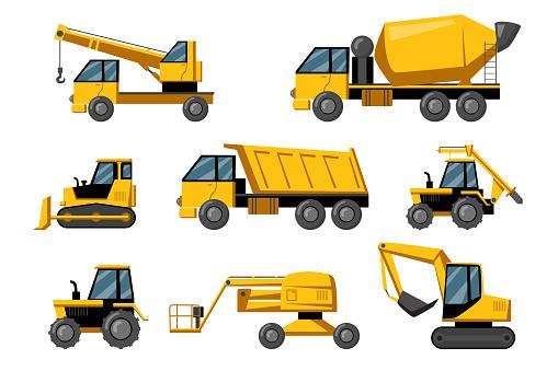 Construction trucks set