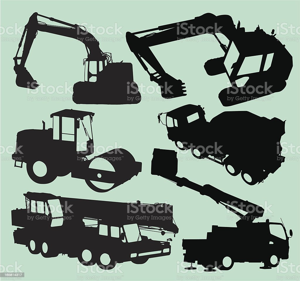 Construction Vehicle Collection royalty-free stock vector art