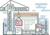 Construction website linear style