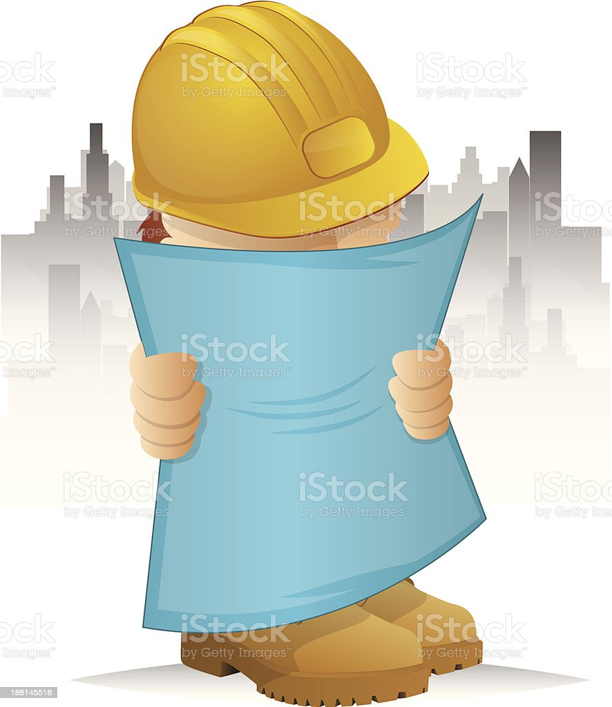 Construction Worker Icon royalty-free stock vector art