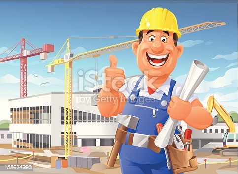 istock Construction Worker on Site 158634993
