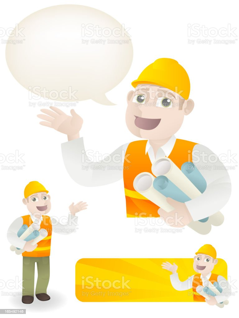 Construction Worker or Site Manager royalty-free stock vector art