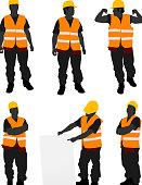 Construction Worker Posing.