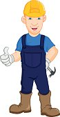 Construction worker repairman