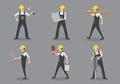 istock Construction Worker Vector Character Sheet 538880410