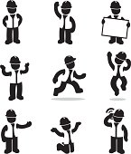 Construction foreman icons