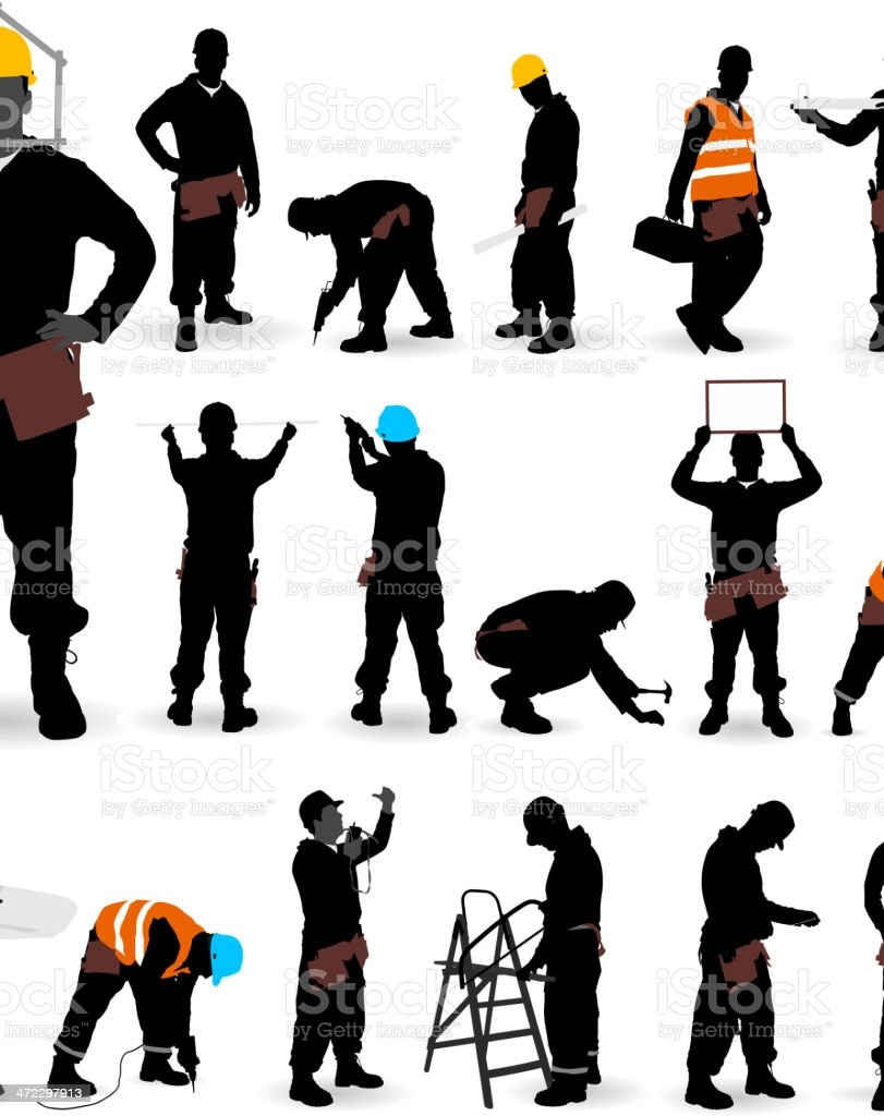 Construction Worker. vector art illustration