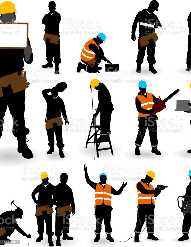 Construction Worker. royalty-free stock vector art