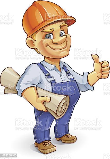Construction Worker Stock Illustration - Download Image Now