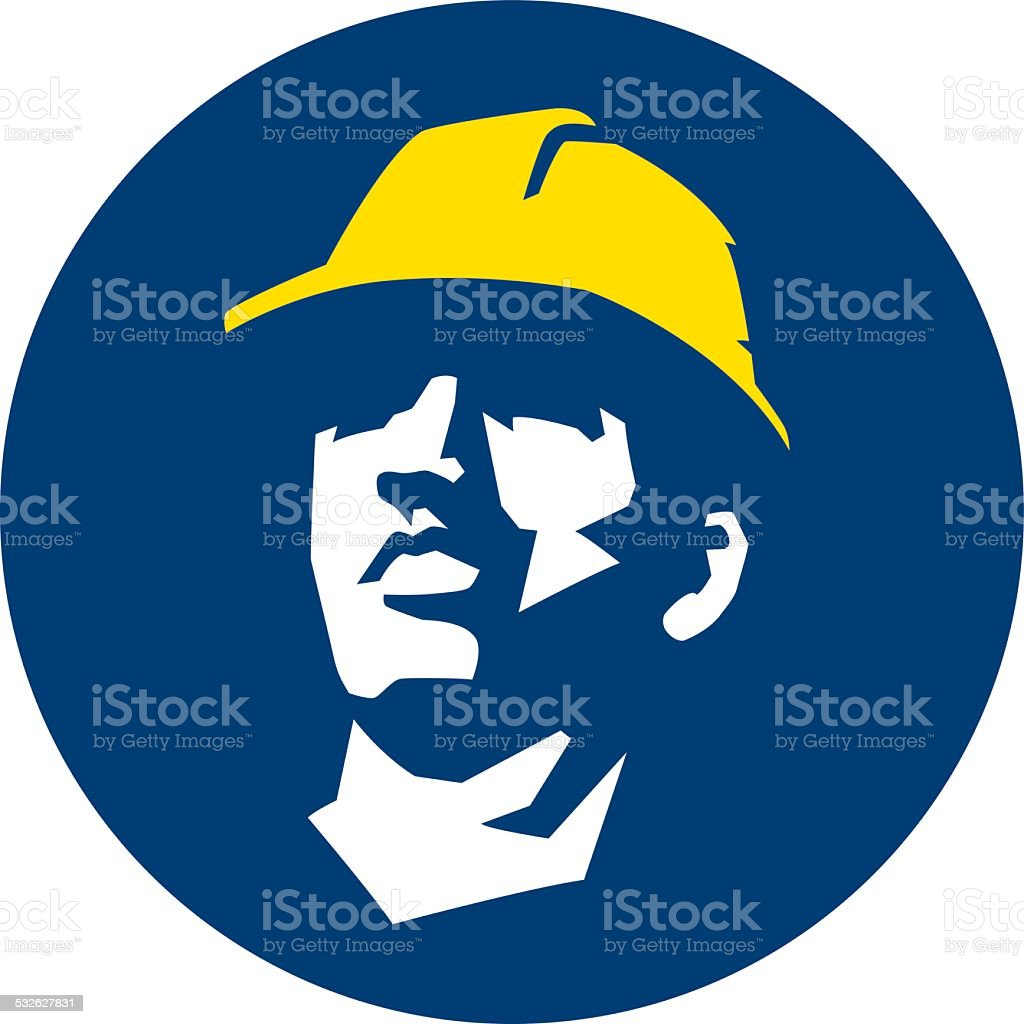 Trabajador de construcción - ilustración de arte vectorial