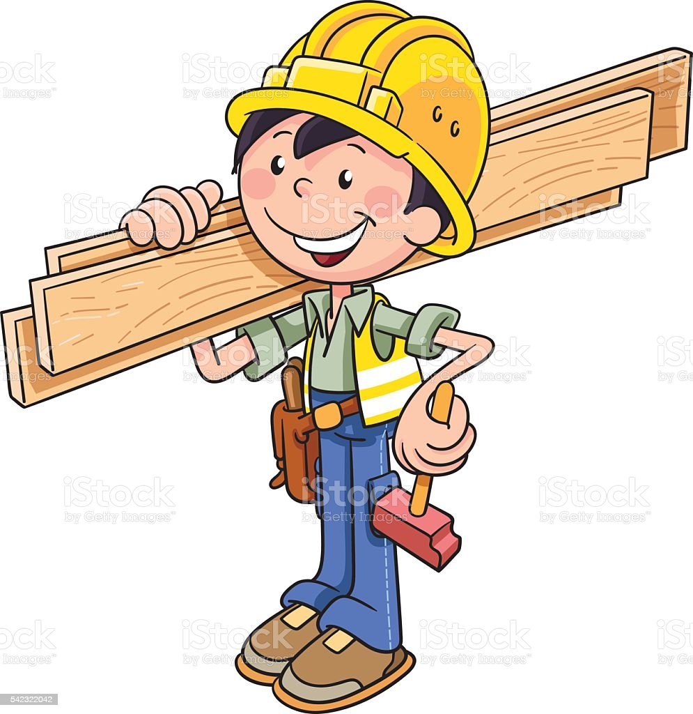 construction worker stock vector art more images of abstract rh istockphoto com construction worker clipart girl construction worker clipart