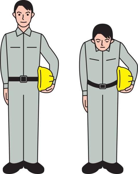 建設作業員  - お礼点のイラスト素材/クリップアート素材/マンガ素材/アイコン素材