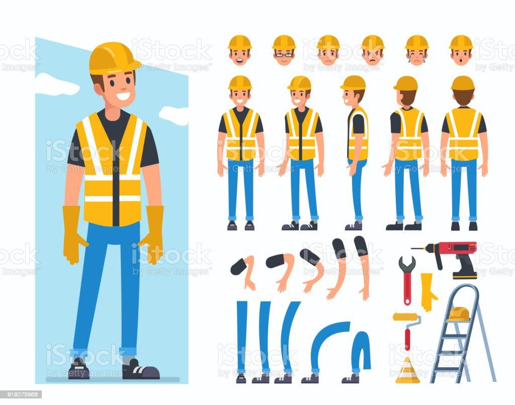 建設作業員 1人のベクターアート素材や画像を多数ご用意 Istock