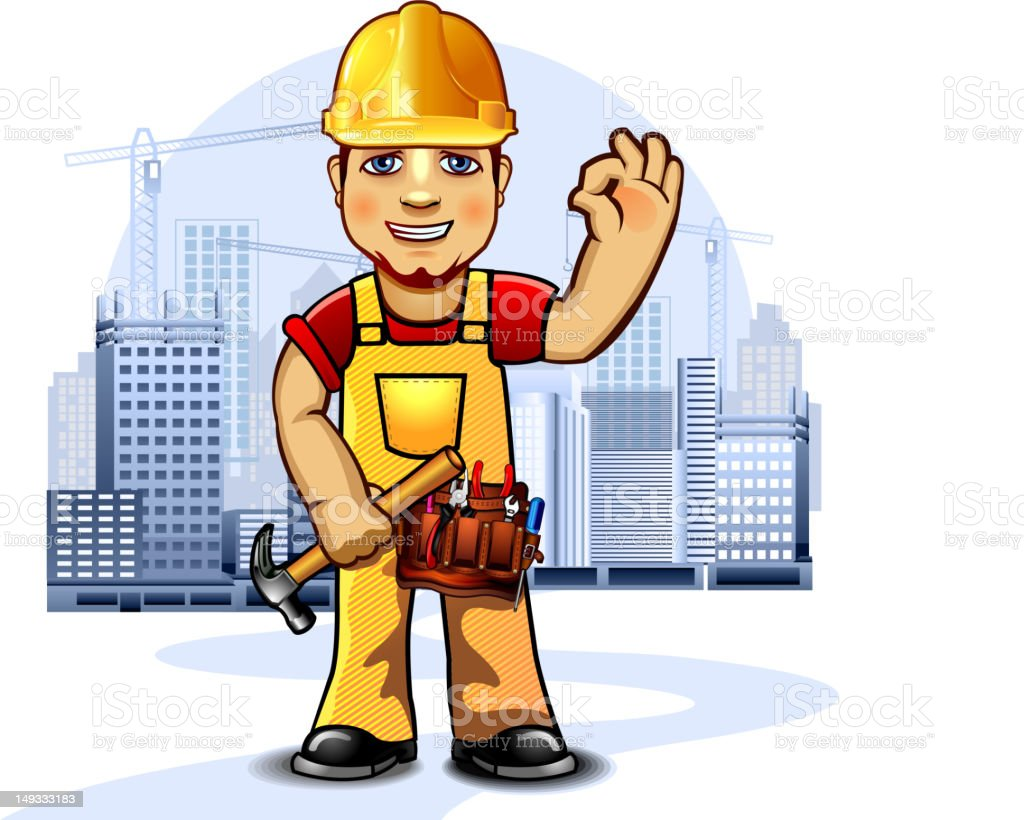 Construction worker with tools royalty-free construction worker with tools stock vector art & more images of adult