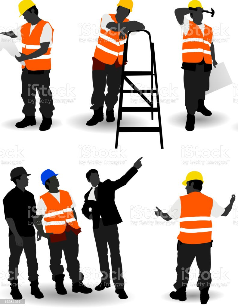 Construction Workers royalty-free stock vector art