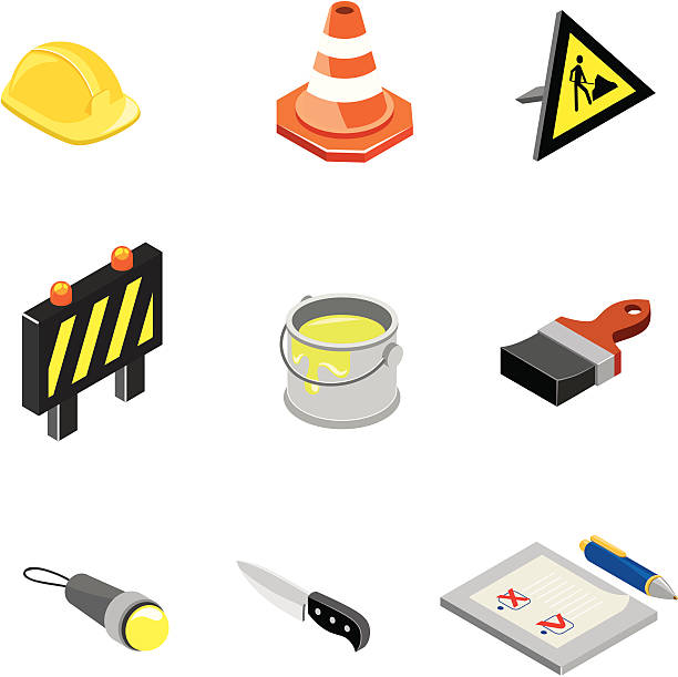 Construction & Worktools icons | ISO collection vector art illustration