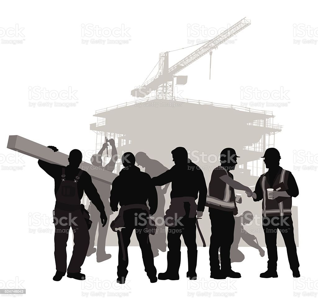 ConstructionCrew vector art illustration