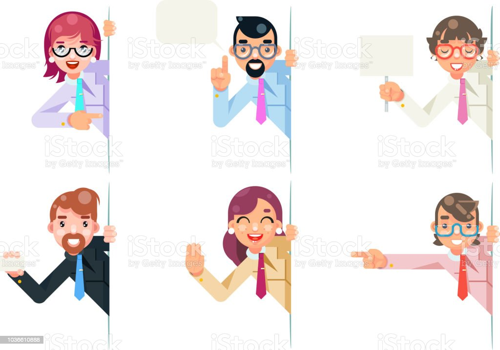 Consultant Scientist Education Support Help Scientific Consultation Advice Looking Out Corner Idea Cartoon Character Solution Flat Design Vector