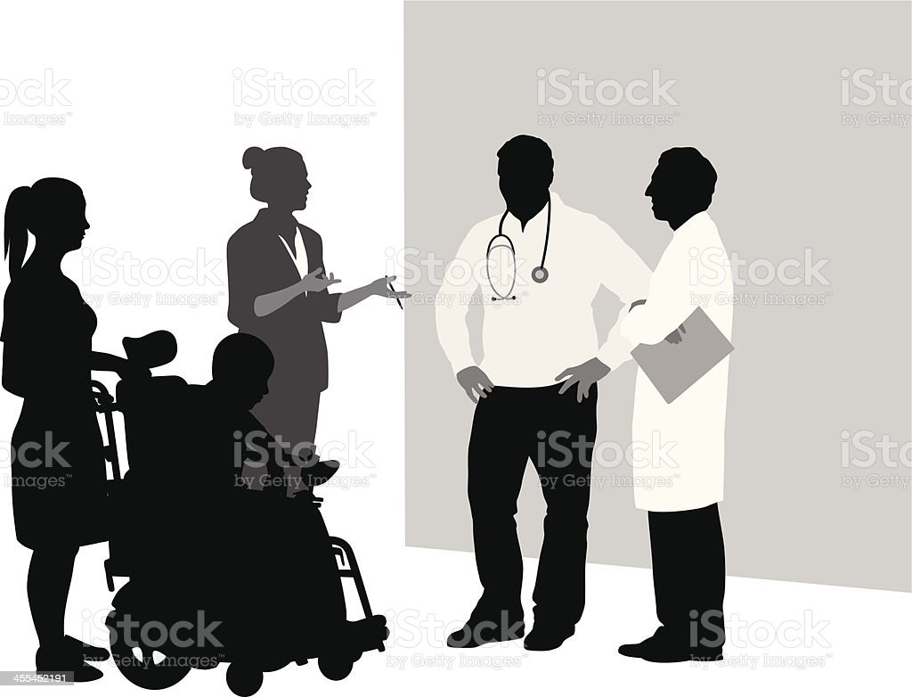 Consultation Vector Silhouette vector art illustration