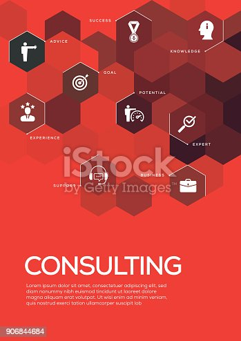 Consulting. Brochure Template Layout, Cover Design