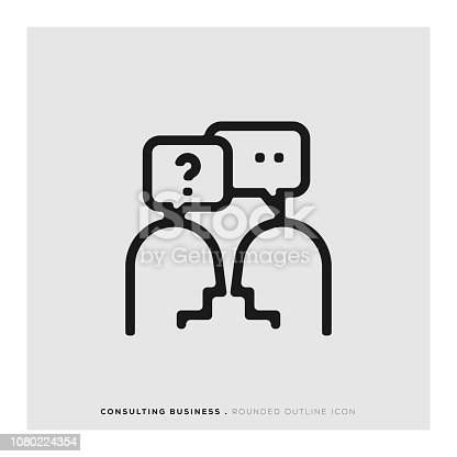 Consulting Business Rounded Line Icon