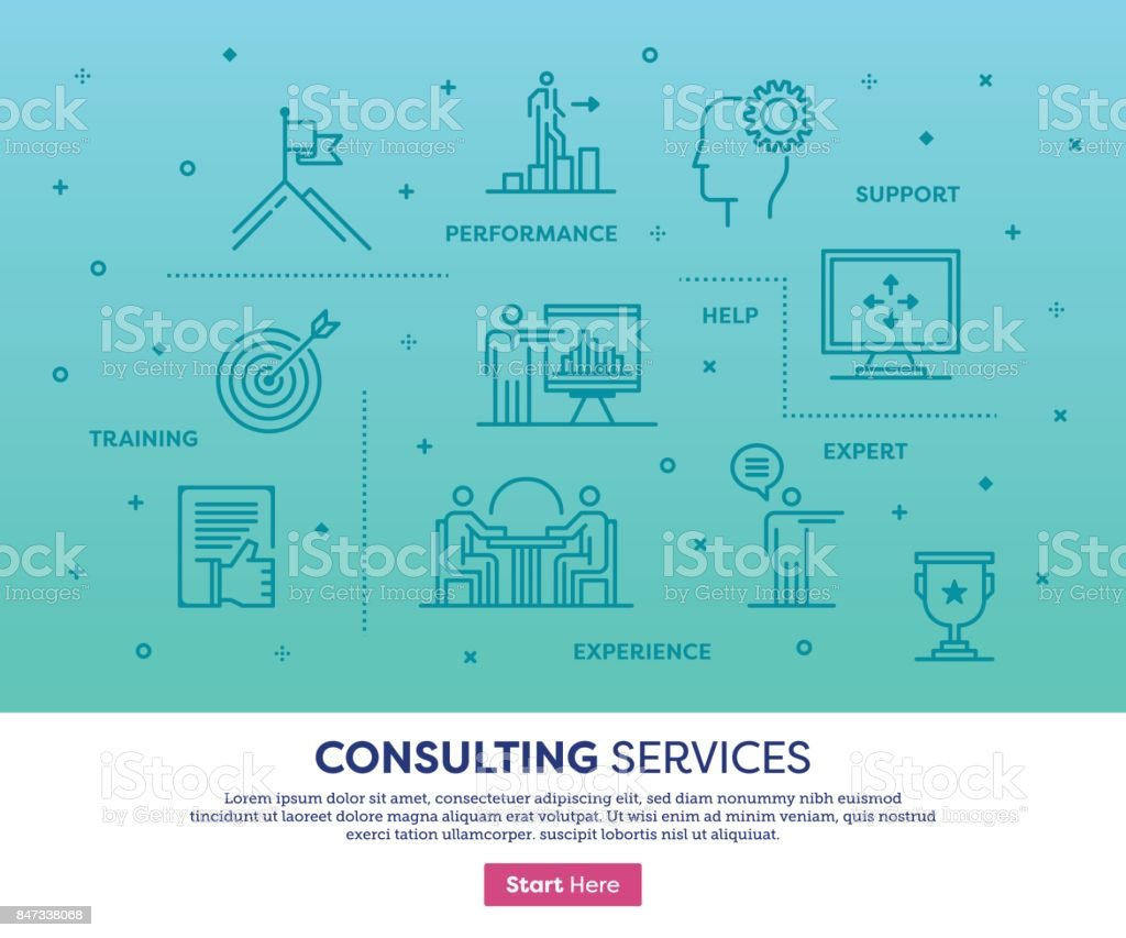 Consulting Services Concept vector art illustration