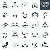 A set consulting icons that include editable strokes or outlines using the EPS vector file. The icons include business consultants, consultants consulting, consultant giving a presentation, giving a speech, giving a training and providing group as well as one on one consulting. they include the concept of consulting to boost productivity and increase company sales.