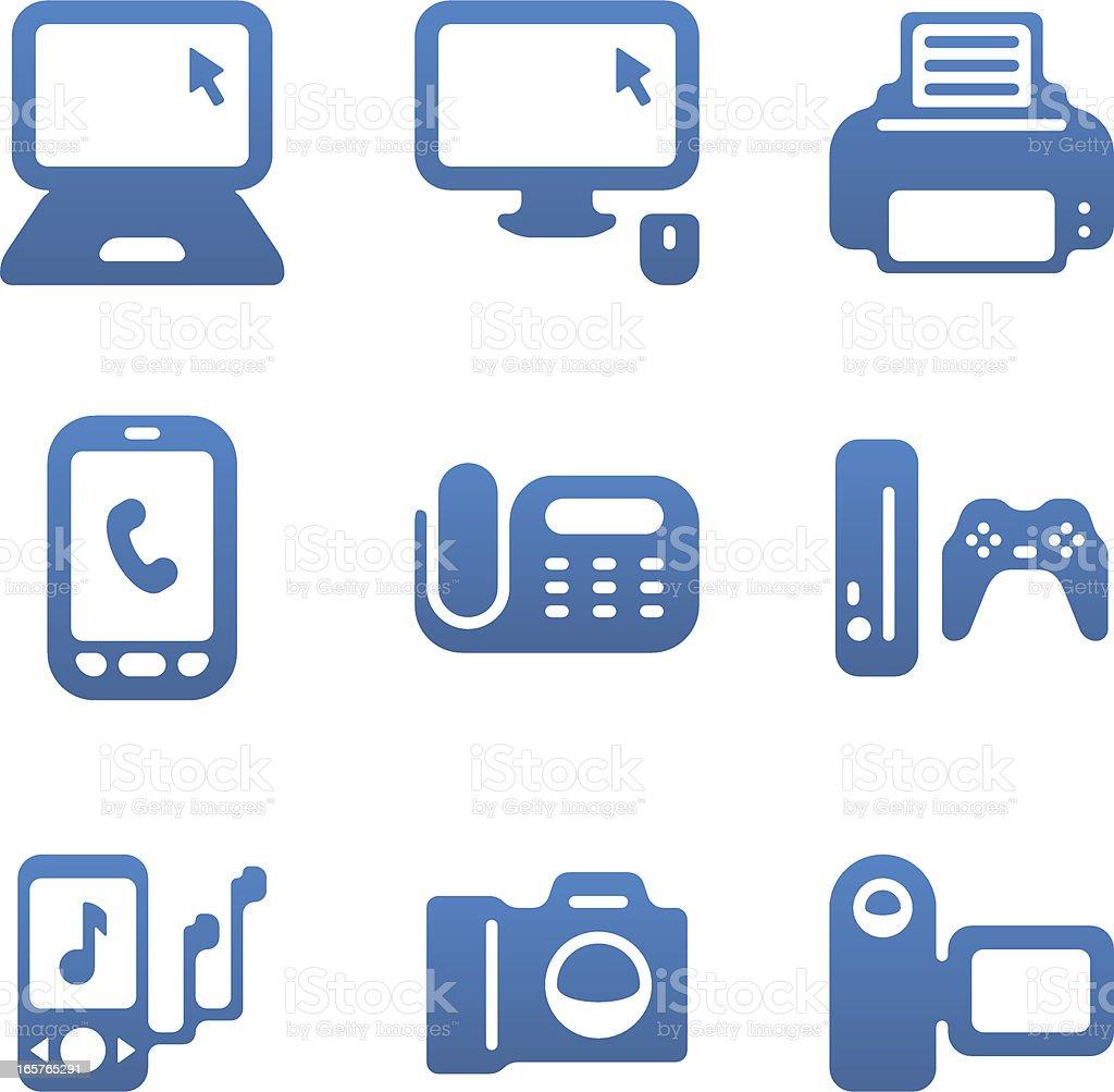 Consumer Electronics Icon Set Royalty Free Stock Vector Art
