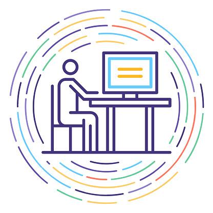 Consumer Protection Line Icon Illustration