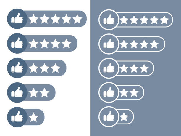 Consumer rating flat icon. Consumer or customer product rating flat icon. Product rating or customer review with gold stars and half star line vector icons for apps and websites Consumer rating flat icon. Consumer or customer product rating flat icon. Product rating or customer review with gold stars and half star line vector icons for apps and websites critic stock illustrations