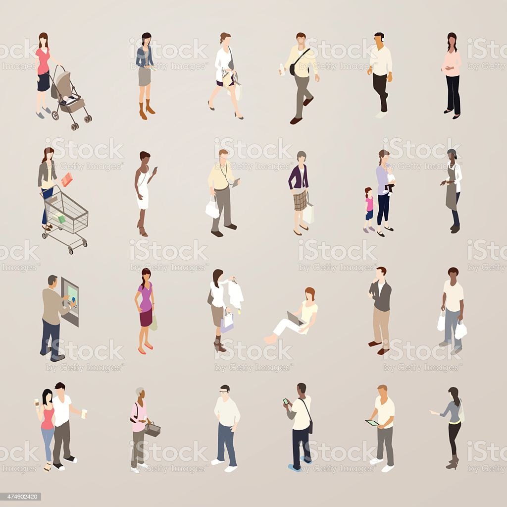Consumers - Flat Icons Illustration royalty-free consumers flat icons illustration stock illustration - download image now