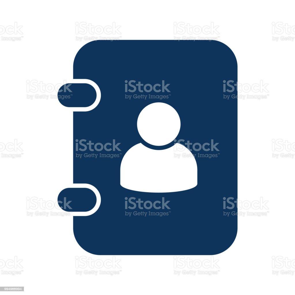contact address book simple vector icon stock vector art more
