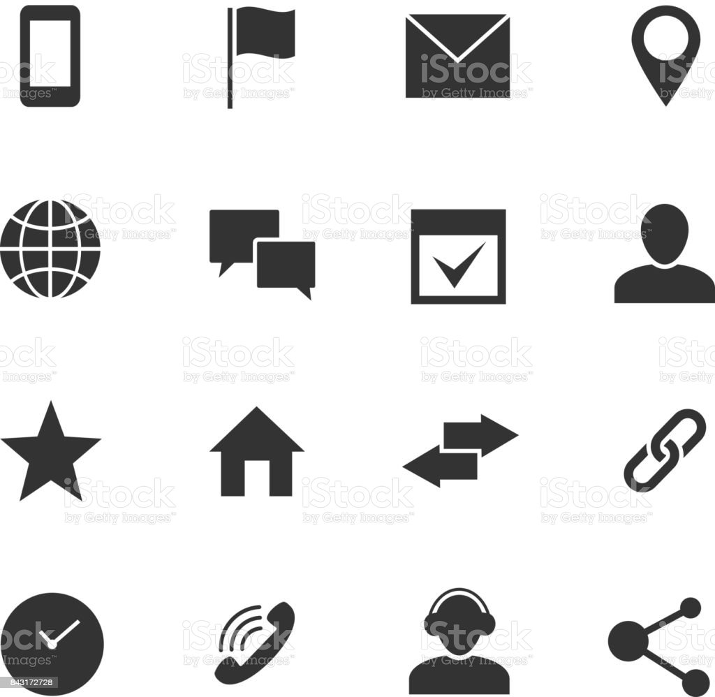 Contact And Communication Internet Vector Icons Home Phone And Email